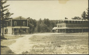 Redstone Quarry Company Store and Boarding House. The Store is now Redstone Graphics, across from the Quarry Monument at the entrance to Redstone on Route 302. The Boarding House was torn down a few years ago. Photo courtesy Dan Noel Collection