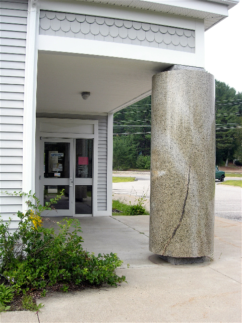 One of the pillars at the Intervale Post Office. Photo courtesy Steve Swenson